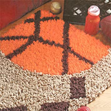 DiY Sports Rug Set Kit   Latch Hook Patterns And Canvas