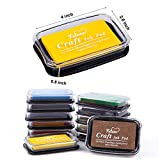Fstaor Craft Ink Pad for Rubber Stamps, Non-Toxic