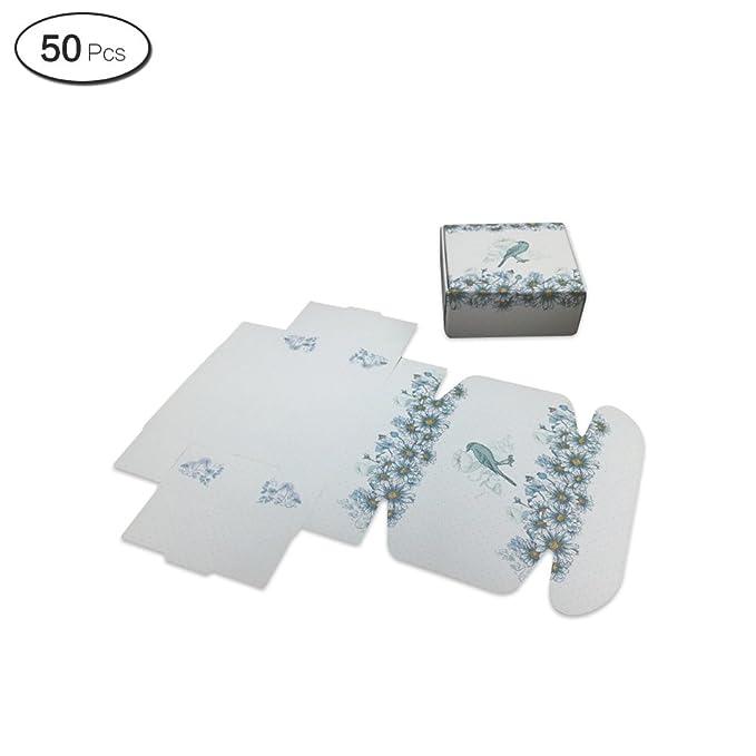 Jia Hu 50pcs Flores Papel de regalo caja de almacenamiento cajas de regalo para jabón de postre decoración: Amazon.es: Oficina y papelería