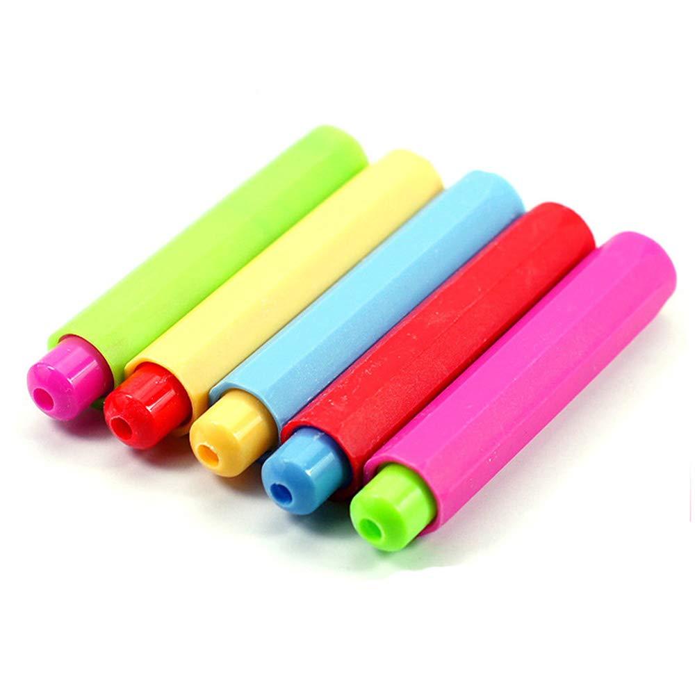 Potelin 4Pcs Chalk Clip Plastic Chalk Holder Chalk Cover for Teachers Kids School Office Supplies(Random Color)