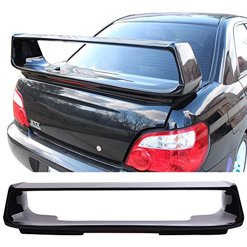 Pre-painted Trunk Spoiler Fits 2002-2007 Subaru Impreza WRX | STI Style Painted Obsidian Black Pearl #32J ABS Car Exterior Trunk Rear Wing Tail Roof Top Lid Other Color Available by IKON (Wrx Sti Wing)