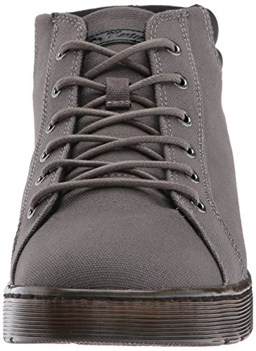 Dr. Martens Hombres Plaza Gunmetal Fashion Bota Gunmetal Canvas