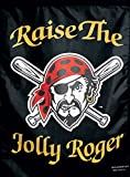 Pittsburgh Pirates Raise the Jolly Roger MLB 11x15 Garden Flag