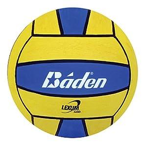 Baden Lexum Official Size 5 Deluxe Rubber Water Polo Ball, Blue/Yellow