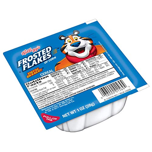 Kellogg's Frosted Flakes, Breakfast Cereal in a Cup, Fat-Free, Bulk Size, 96 Count (Pack of 96, 1 oz Cups) ()