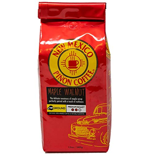 New Mexico Piñon Coffee Naturally Flavored Coffee (Maple Walnut Ground, 12 ounce)