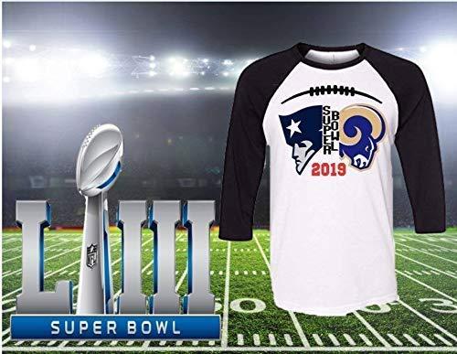 Amazon.com  Handmade NFL Shirt ~ Super Bowl 2019 ~ Los Angeles Rams ~ New  England Patriots  Handmade 1a28909f2
