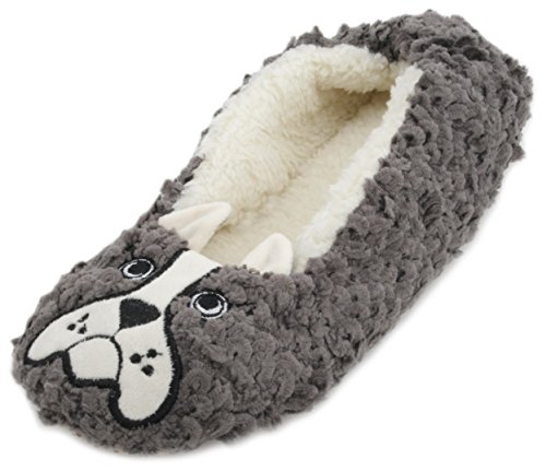 Brown Femme Chaussons Dog Slumberzzz Pour Bull French twZxPq