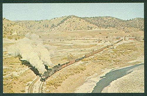 Denver Rio Grande Western FREIGHT TRAIN TWO ENGINES Gato CO Railroad -