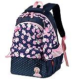 Vbiger Kids Backpack Nylon Primary School Bag Adorable Travel Daypack Large-capacity Shoulders Bag for Little Girls