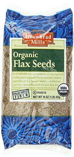 Flax seed (Organic) Arrowhead Mills 1 lbs Bulk (2 Pack )