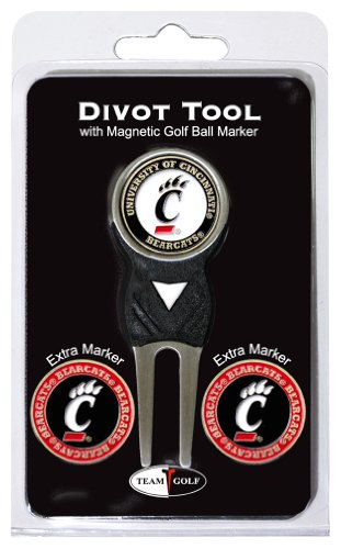 - Team Golf NCAA Cincinnati Bearcats Divot Tool with 3 Golf Ball Markers Pack, Markers are Removable Magnetic Double-Sided Enamel