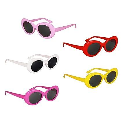 5 Unids Gafas de Sol Lentes Ovaladas Marco Grueso Regalo de ...