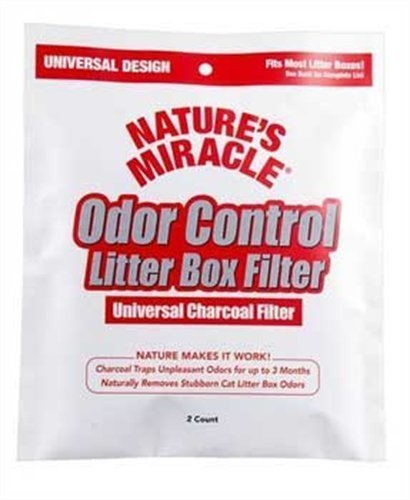 Natures Miracle Odor Control Universal Charcoal Filter, 4-Pa