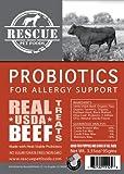 Rescue Pet Foods - USDA Beef Jerky Treats - Probiotics for Allergy Support - 3.35oz pkg