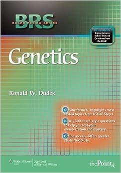 Book BRS Genetics (Board Review Series) by Dr. Ronald W. Dudek PhD (2009-04-27)