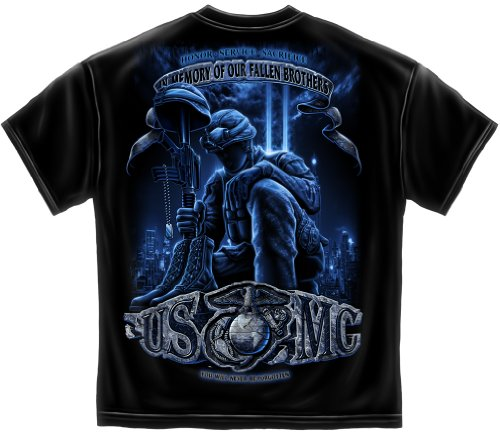 USMC T-shirt In Memory of our Fallen Brothers-medium