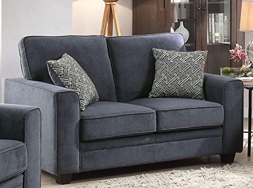 Acme Furniture Catherine Collection 52291 62'' Loveseat with Accent Pillows, Wide Track Arms, in Blue Color by Acme Furniture Products (Image #1)