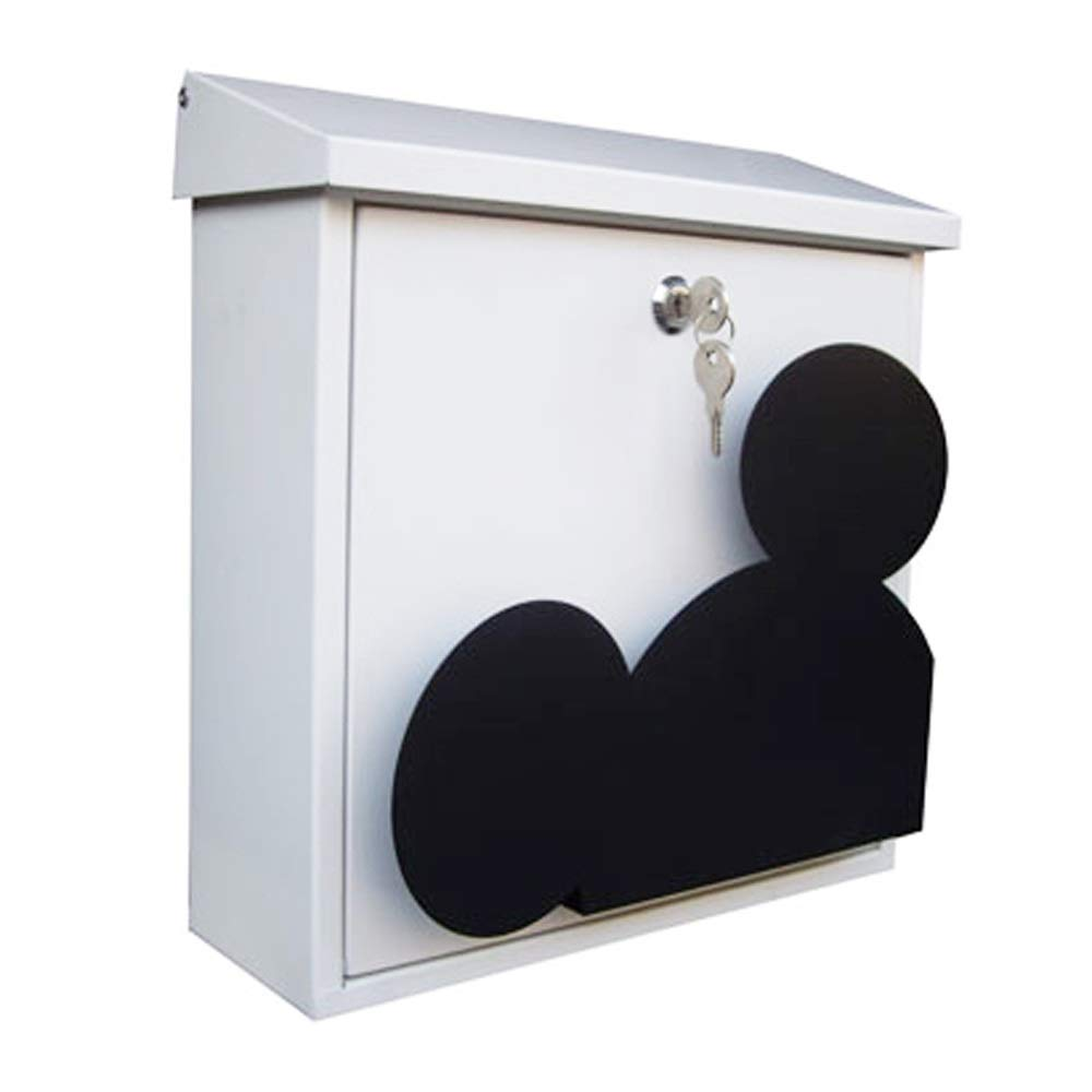 SHYPwM ミッキーヘッドメールボックス屋外レターボックスガーデンデコレーション受信トレイ写真結婚式の小道具メールボックス (色 : Gray)  Gray B07Q2T33FQ