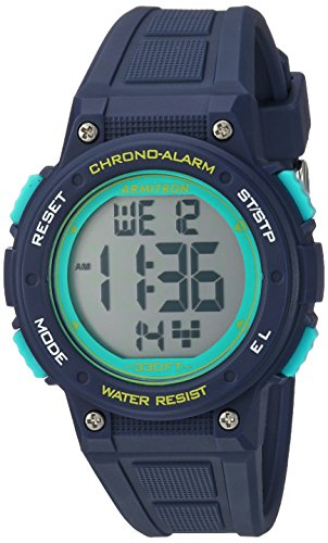 Waterproof Sport Watch - Armitron Sport Women's 45/7086NVY Digital Chronograph Navy Blue Resin Strap Watch