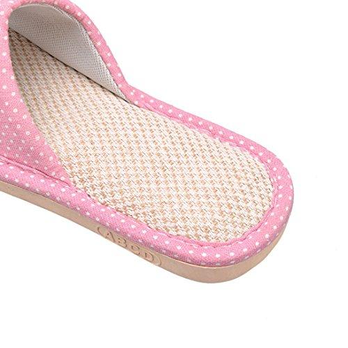 Ouvert des Antidérapantes Chaussons de Intérieur Hommes Maison Bout Sandales Femme Rose Pantoufles Pantoufles Vdual vqPUHxIw