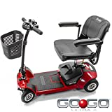Pride Mobility - Go-Go Ultra X - Travel Scooter - 4-Wheel - Red