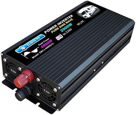 ELBOX99 Inversor 2000W 4000W 12V Convertidor De Onda SENOIDAL Pura ...