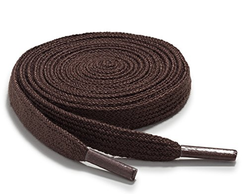 Sport Flat Shoe Brown (OrthoStep Narrow Flat Athletic 54 inch Light Brown Shoelaces - High Durability Shoes and Sports Laces 2 Pair Pack)