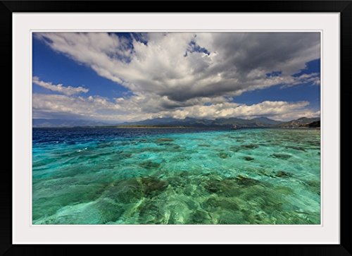 GreatBIGCanvas ''Gili Air, Lombok, Indonesia'' Photographic Print with Black Frame, 36'' x 24'' by greatBIGcanvas