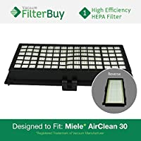 Miele Active AirClean 30 HEPA Filter, Part # AAC30 & SFAA30. Designed by FilterBuy to fit Miele models S7000-S7999, S2000-S2999, S300i-S858i.