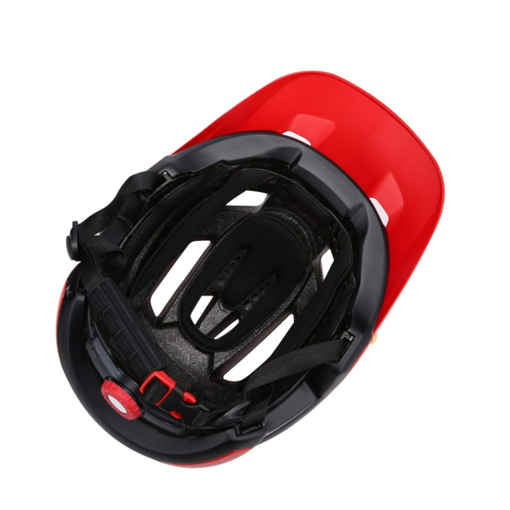LYX-Gafas de casco de bicicleta. Casco Grande Con Ala Ancha Bicicleta De Montaña Para Hombres Y Mujeres Casco De Seguridad De Forma Integrada Casco De ...