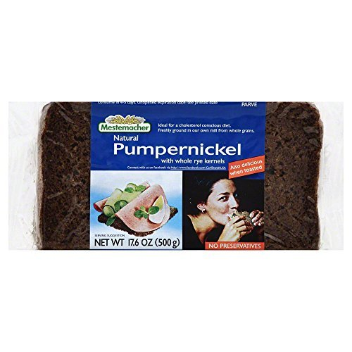 MESTEMACHER BREAD RTE PUMPERNICKEL, 17.6 OZ (Pack of 6)
