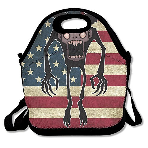 Chibi Nosferatu Comic Lunch Box Bag Lunch Tote Lunch Holder Waterproof Portable With Adjustable Crossbody Strap For Men Women Adults Kids Girls Teen Girls