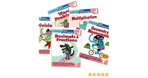 Kumon Grade 4 Math workbooks (5 books) - Decimals & Fractions ...