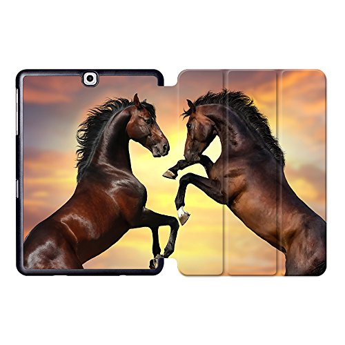 Akhal Teke Horses Horse - MTAOTAO Print Akhal-teke Horse Case For Samsung Galaxy Tab S2 9.7 Case SM T810 T813 T815 T819 9.7 inch Tablet Stand PU Leather Flip Cover