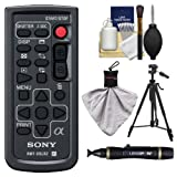 Sony RMT-DSLR2 Wireless Remote Shutter Controller for Sony Alpha Cameras with Tripod + Cleaning & Accessory Kit for Alpha A33, A55, A57, A65, A77, A99, NEX-5/5N/5R, NEX-6, NEX-7 Cameras