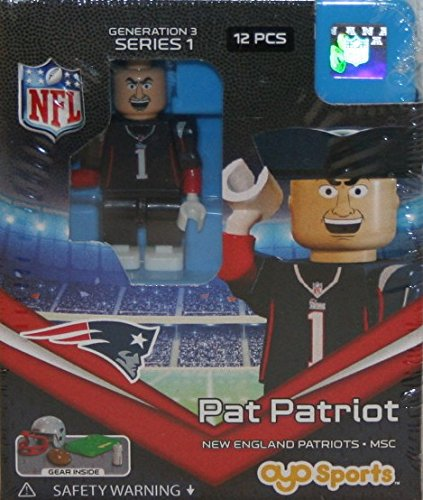 OYO NFL GEN3 New England Patriots Mascot Limited Edition Minifigures, Blue, Small