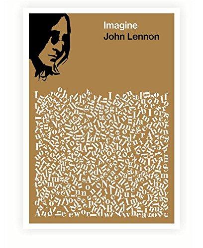 4 John Lennon Imagine Song Lyrics Poster In A2 Size