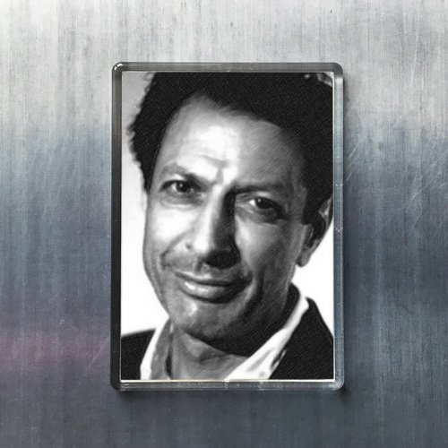 - Seasons JEFF GOLDBLUM - Original Art Fridge Magnet #js001