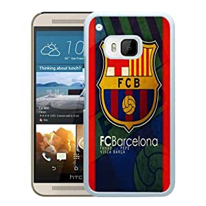 Popular Custom Designed Cover Case For HTC ONE M9 With Barcelona White Phone Case 8