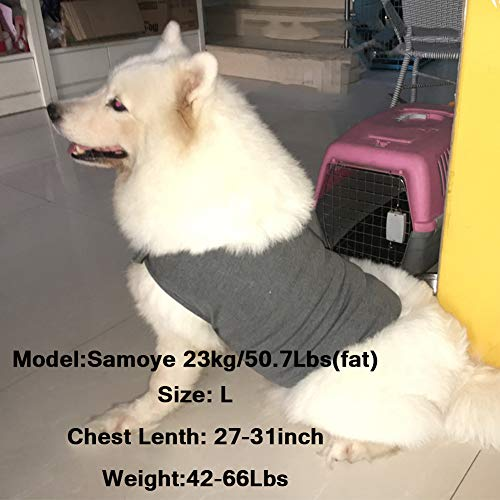 Lvozize Dog Anti Anxiety Jacket Vest, Keep Calm Clothes,Premium Fabric Thunder Soft Shirts, Pets Stress Relief Fireworks Thunder Separation Travel Calming Coat S (Dark Blue)