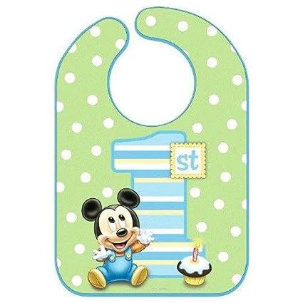 Babero Diseno De Mickey Mouse Primer Cumpleanos Amazon Es Bebe