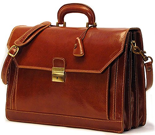 [Custom]Floto Mens Venezia Briefcase Attache in Brown by Floto