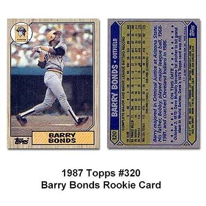 Barry Bonds Rookie 1987 Topps No320 Baseball Card