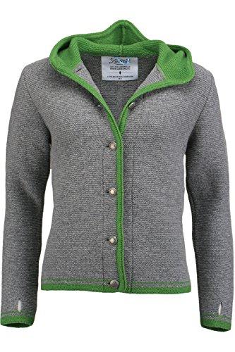 Damen Liebling Liebling Trachtenjanker grau/grün 'Katharina', grau-grün, XS