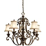 Cheap Kichler 43279TRZ Mithras 5 Light Chandelier, Terrene Bronze Finish