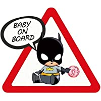 """Meitinalife Little Superhero Baby on Board Car Stickers and Decals 5""""x6"""" Reflective Kids ON Board Sticker Baby in Car…"""