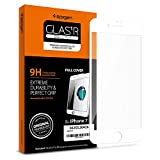 Spigen Full Cover Glass iPhone 7 Screen Protector with Tempered Glass for iPhone 7 - White