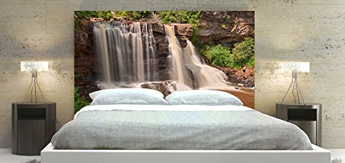 Waterfalls Headboard, Square Shape Frame, Available in Sizes (King: 78 x 36 inch)