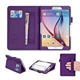 Galaxy Tab S2 8.0 Case Cover, FYY® [Super Functional Series] Premium PU Leather Case Stand Cover with Card Slots, Note Holder, Quality Hand Strap and Elastic Strap for Samsung Galaxy Tab S2 8.0 Purple